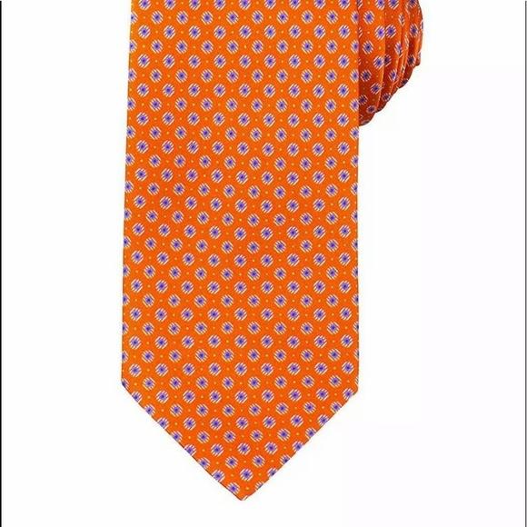 Brioni Other - Brioni men's silk neck tie orange made in Italy